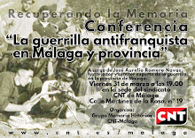 """Próxima conferencia de memoria histórica  """"La guerrilla antifranquista en Málaga y provincia"""""""