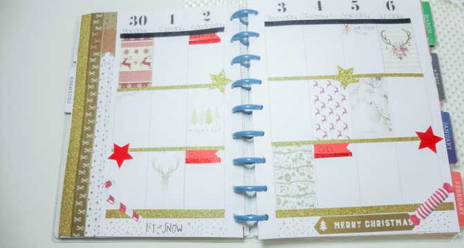 happy planner christmas