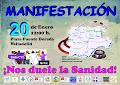 "MANIFESTACION  NOS DUELE LA SANIDAD"""