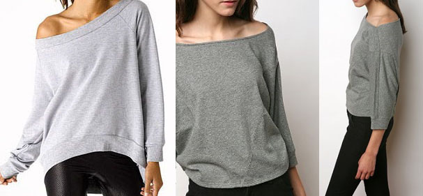 how to cut an off the shoulder t shirt