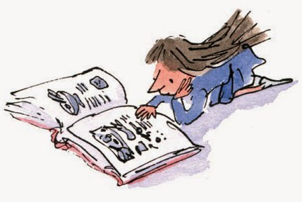 Matilda (de Roald Dahl) dibujada por Quentin Blake