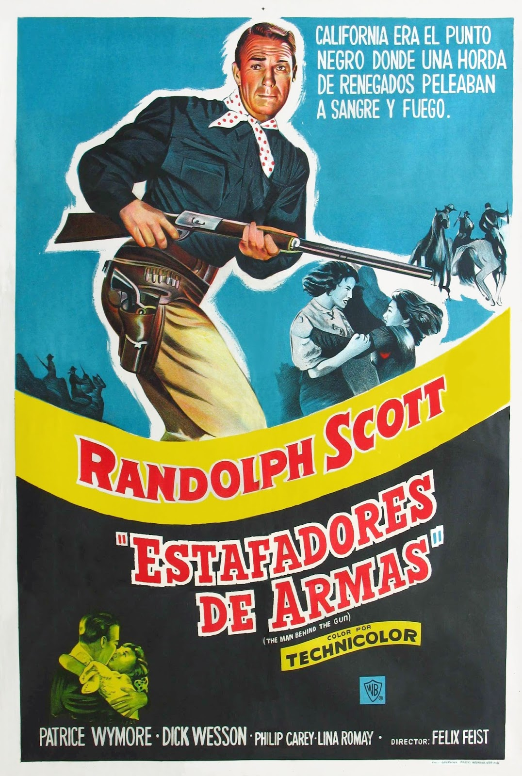 The Man Behind the Gun Foreign Film Poster
