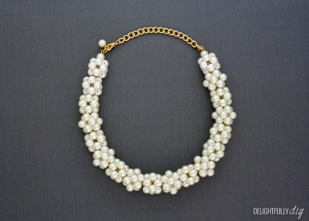 Delightfully DIY: J.Crew Inspired Pearl Necklace