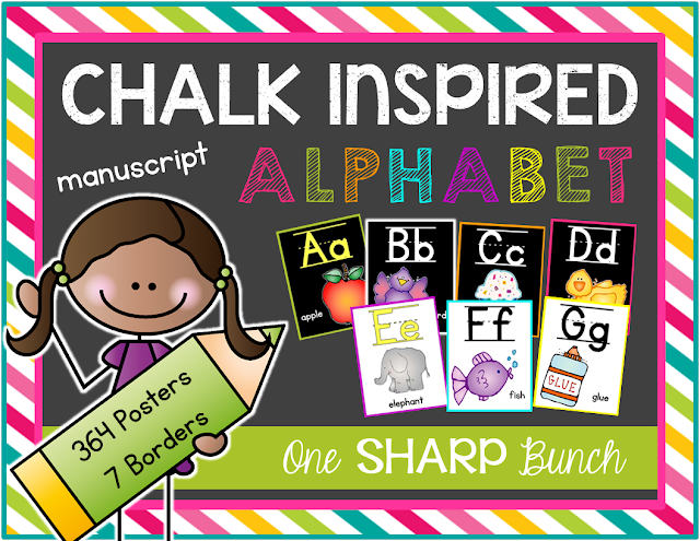 https://www.teacherspayteachers.com/Product/Chalk-Inspired-Alphabet-Posters-Manuscript-1338786