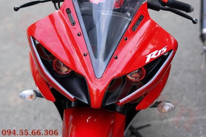 R15 V2 Modified With Projector Lights Yamaha R15 Projector M...