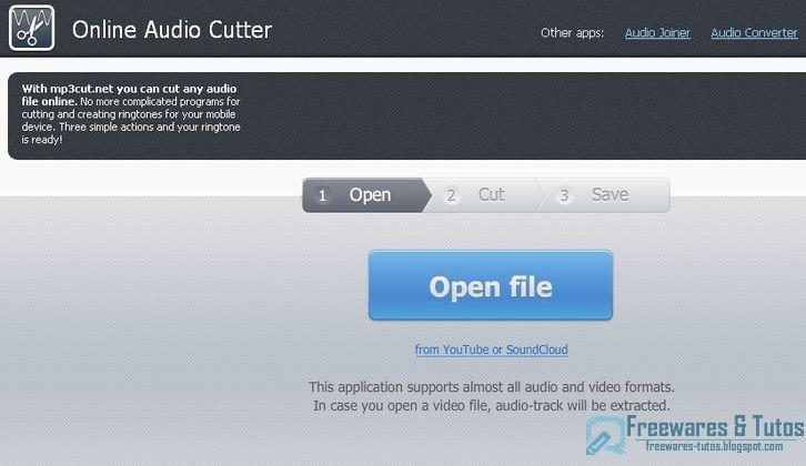 Un autre service en ligne pour cr er des sonneries pour votre t l phone freewares - Couper un fichier audio en ligne ...