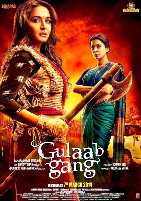 Watch Gulaab Gang (2014) Non Retail DVDRip Hindi Full Movie Watch Online For Free Download