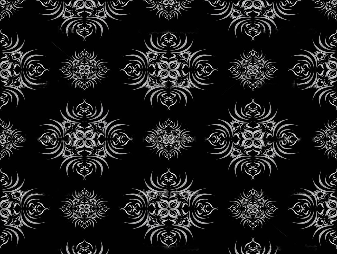 black damask wallpaper on - photo #12
