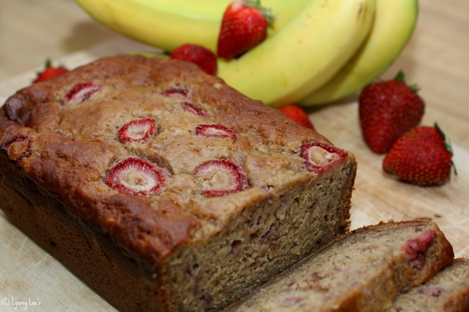 Lynsey Lou's: Brown Butter Banana Strawberry Bread