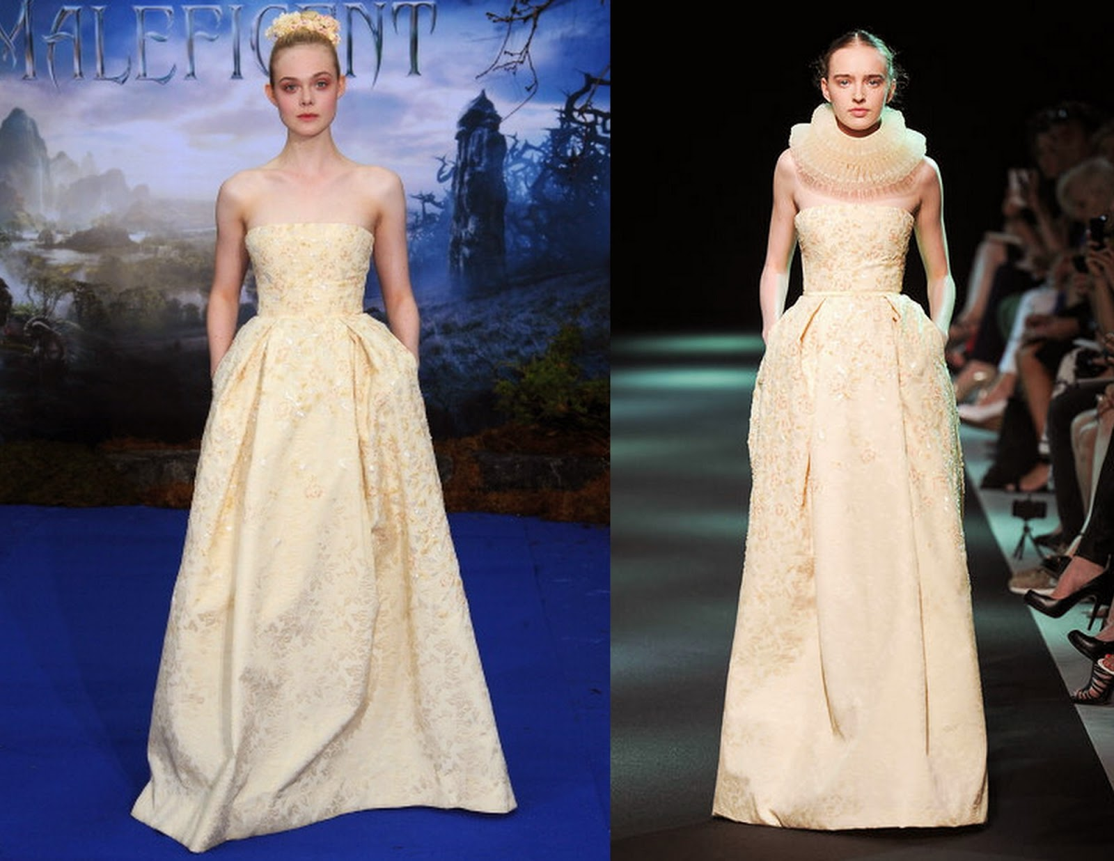 Elle-fanning-Georges-Hobeika-Couture-premiere-maleficient-catwalk-model