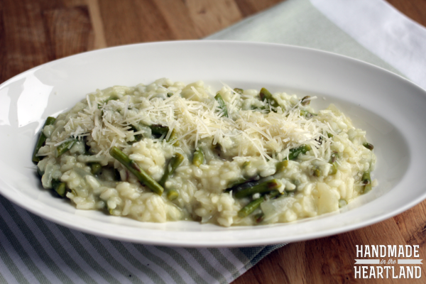 Asparagus Risotto - Handmade in the Heartland
