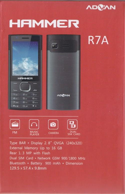 Spesifikasi Advan Hammer R7A