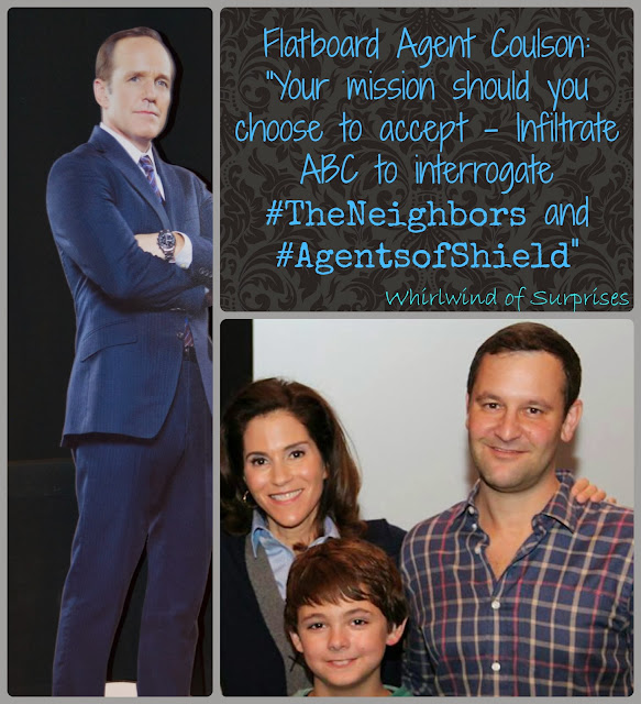 Interview with Dan Fogler, Jami Gertz and Max Charles from #TheNeighbors and Jeph Loeb of Marvel TV for #AgentsofShield