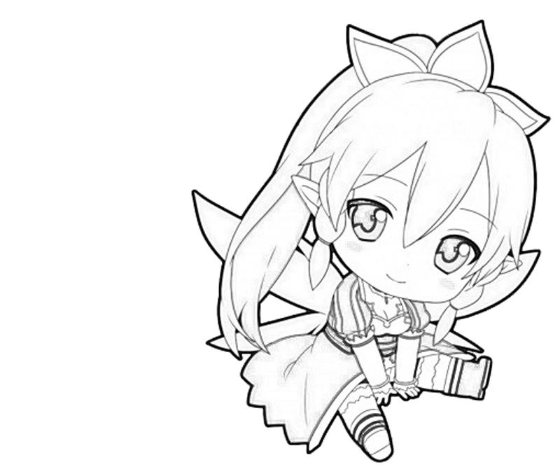 leafa-chibi-coloring-pages