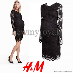 Princess Sofia wore H&M Mama Lace Dress