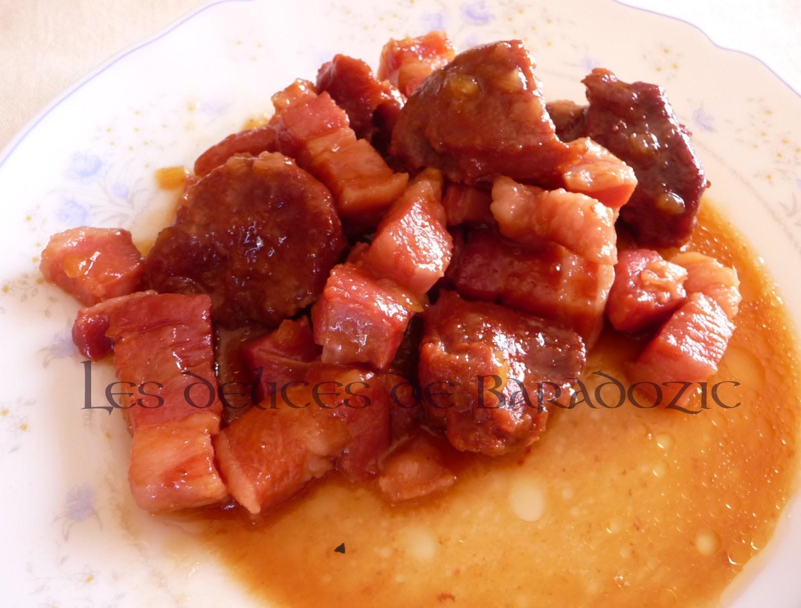 Joues de porc la bi re et au miel les d lices de baradozic - Cuisiner de la joue de porc ...
