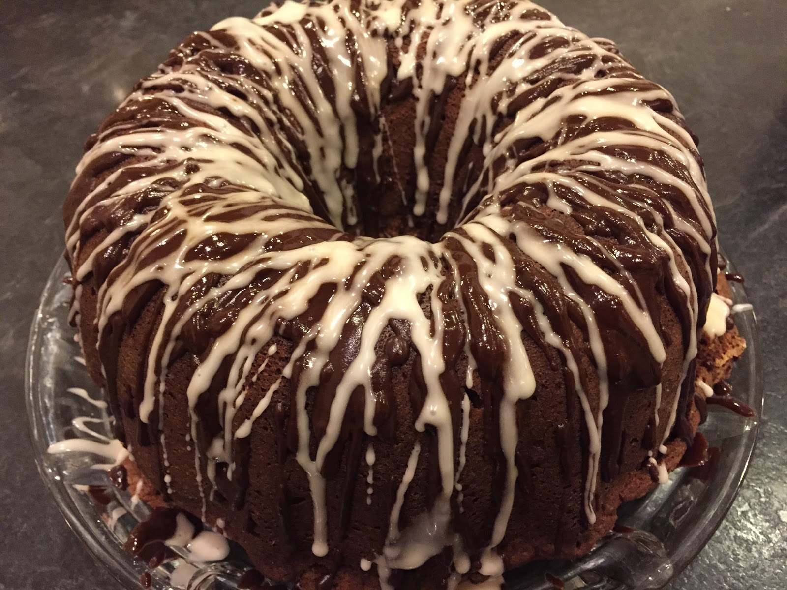 Our Neck Of The Woods Triple Chocolate Buttermilk Pound Cake