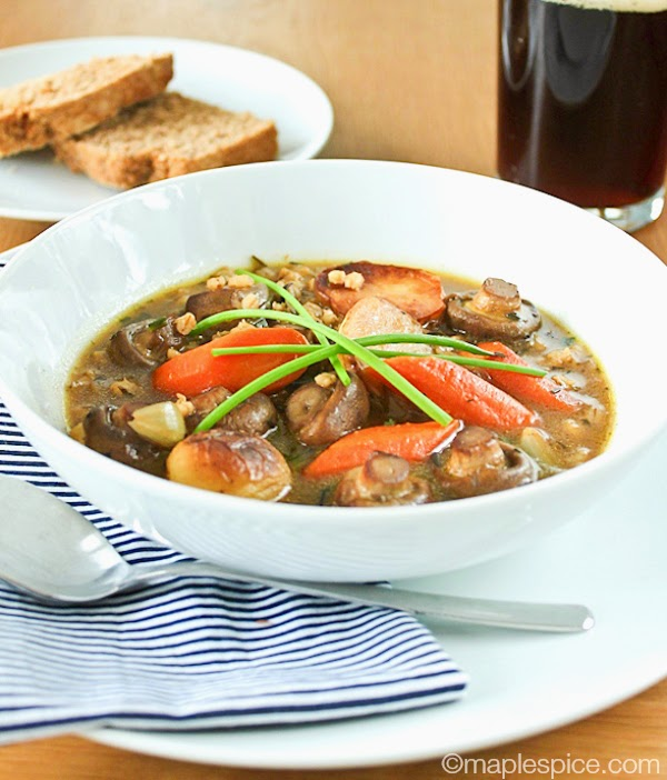 Roasted Baby Vegetable Irish Stew - vegan recipe