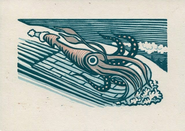 The Making of a Multi-Color Linoleum Block Squid – Library Muse