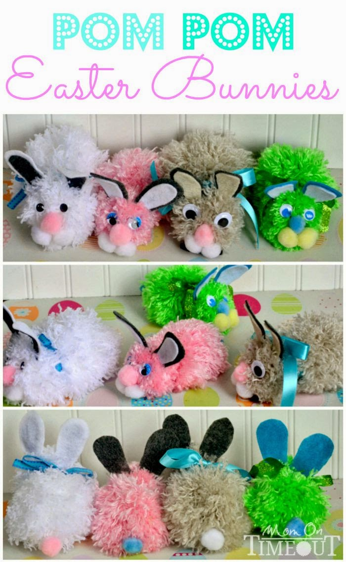 http://www.momontimeout.com/2013/03/pom-pom-easter-bunnies-craft/