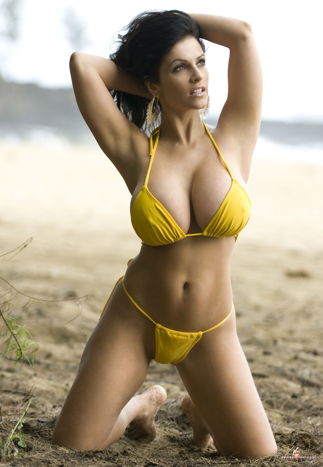 Ashley hot In yellow bikini rabbit