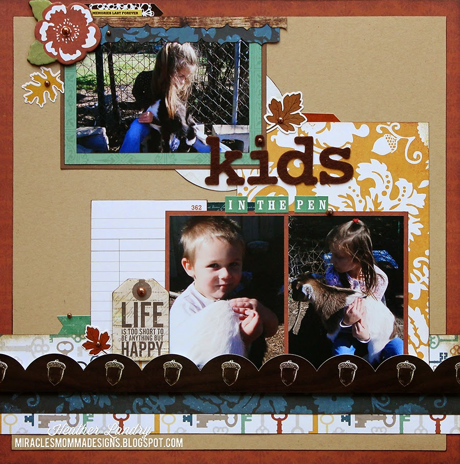 Scrapbook Page_Kids_Baby Goats