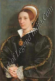 "The Great Artist Hans Holbein Painting ""Unknown Lady"" c.1540 29"" x 20"" Museum of Art, Toledo, Ohio"