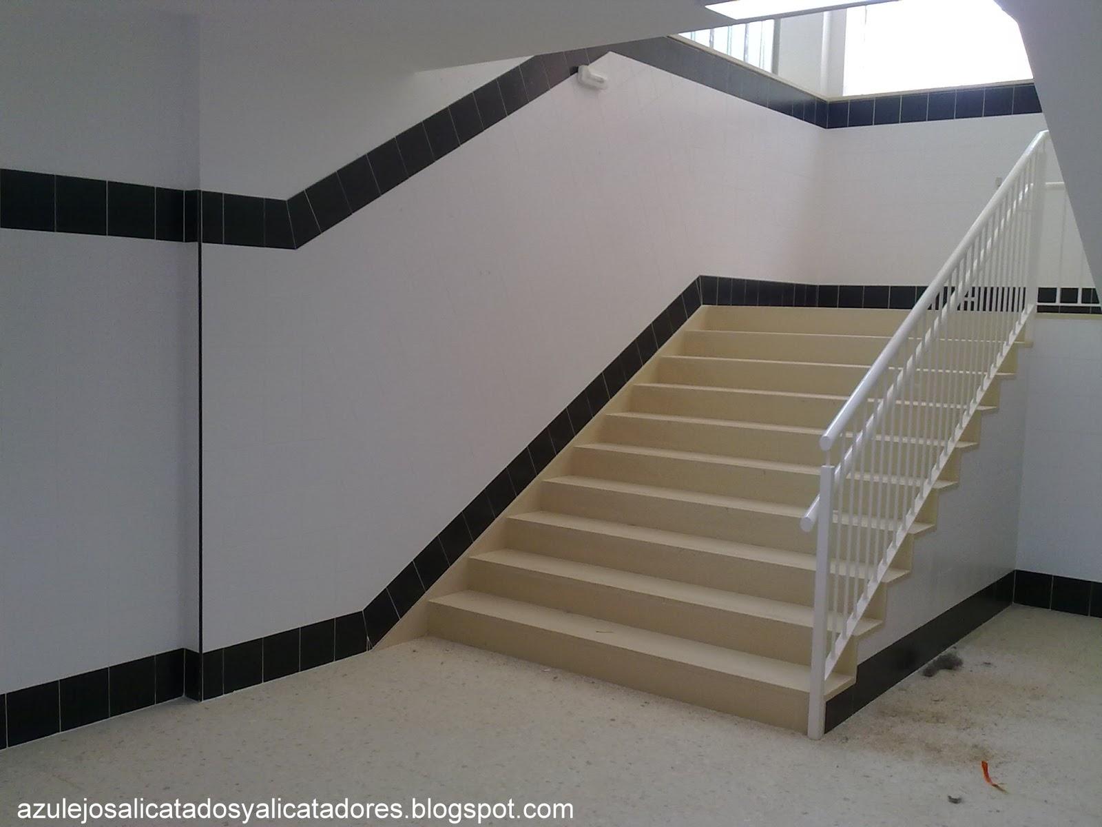 AZULEJOS, ALICATADOS Y ALICATADORES.: trazado abanico de escalera