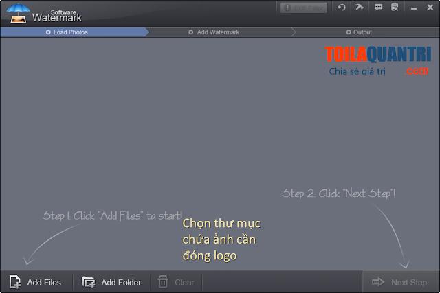 Phần mềm đóng dâu logo vào ảnh hàng loạt