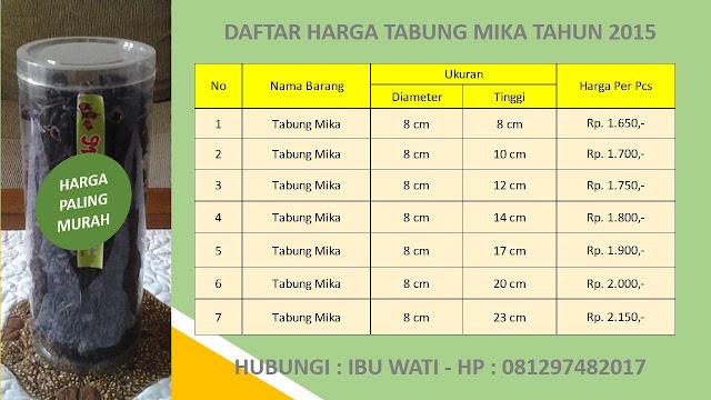 Grosir Kemasan Tabung Mika Ukuran Diameter 8 Cm