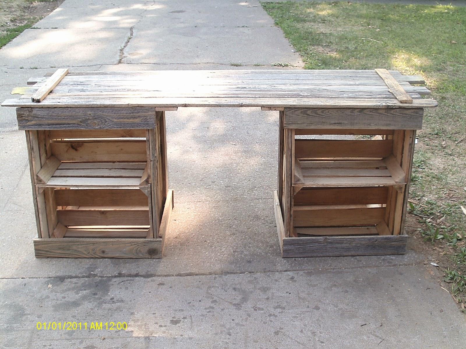 Hand Made Desk handmade rustic & log furniture: rustic crate table & reclaimed