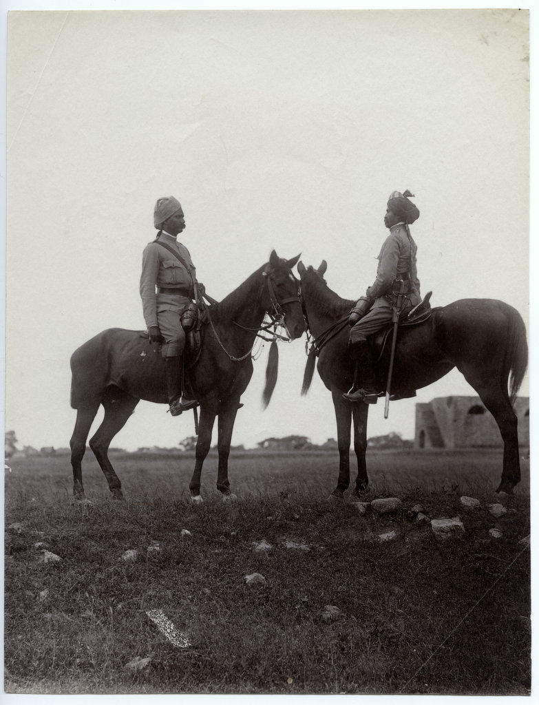 Indian Native Cavalry Men - c1880's