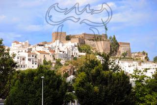 Vista de la fortaleza de Salobreña desde la carretera nacional