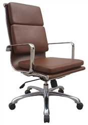 Retro Brown Leather Office Chair