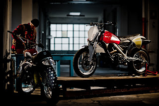 Husqvarna Concept Moab and a vintage Husky from the Sixties