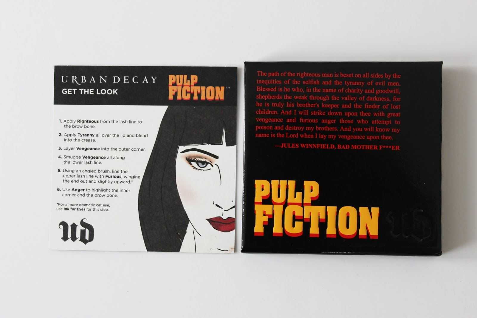Urban Decay Pulp Fiction eye shadow palette
