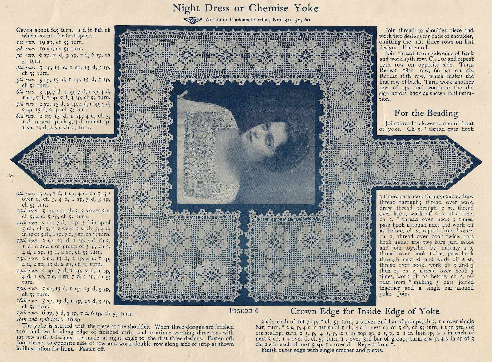 Leaping Frog Designs: Free Vintage Crochet Pattern Night ...