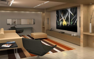 home Theater na sala de estar