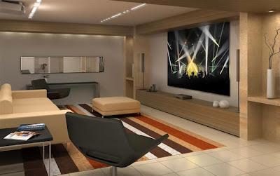 home Theater na sala de estar