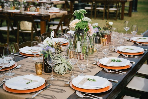 decoración floral mesa de boda