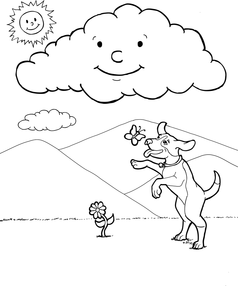 types of clouds coloring pages - photo#3