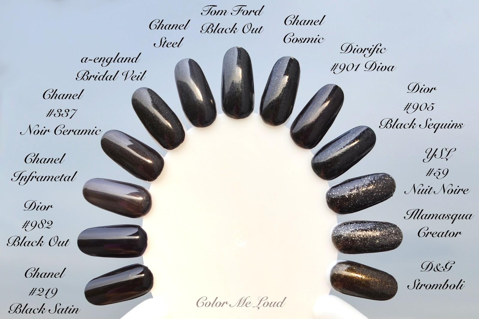 nails chanel matte black