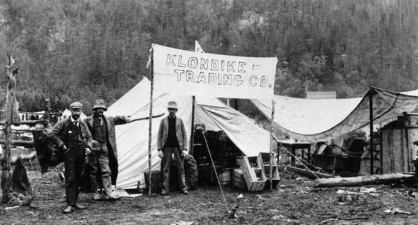 Comerciantes fiebre del oro Alaska
