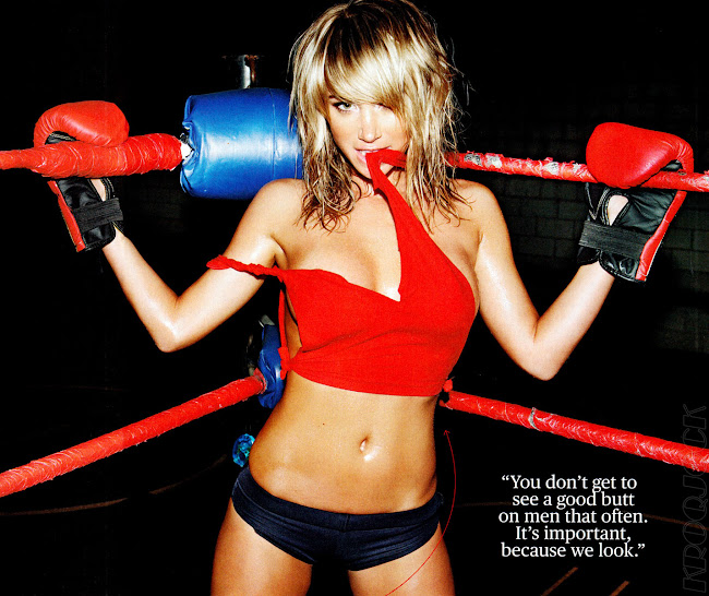 Sara Jean Underwood in the ring, photo from June 2012 Men's Fitness Magazine