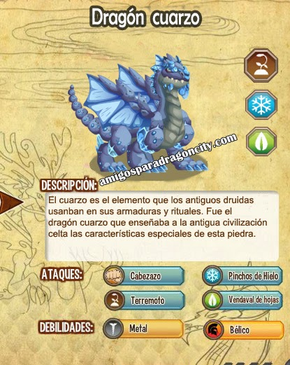imagen de las caracteristicas del dragon cuarzo