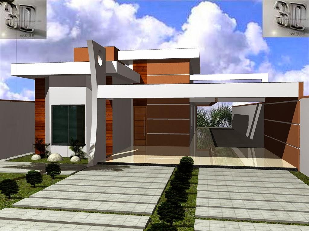 3danilo maquetes eletr nicas 3d fachada 3d casa em - Casas super pequenas ...