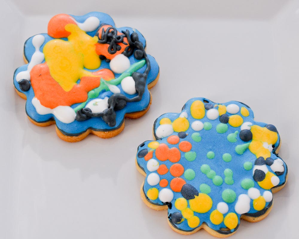 Beki Cook's Cake Blog: Fireworks Cookies - (If you squint)