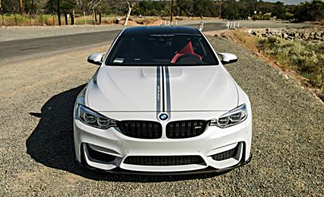 Alpine White BMW M4 Rocking Vorsteiner V-FF 103 Wheels