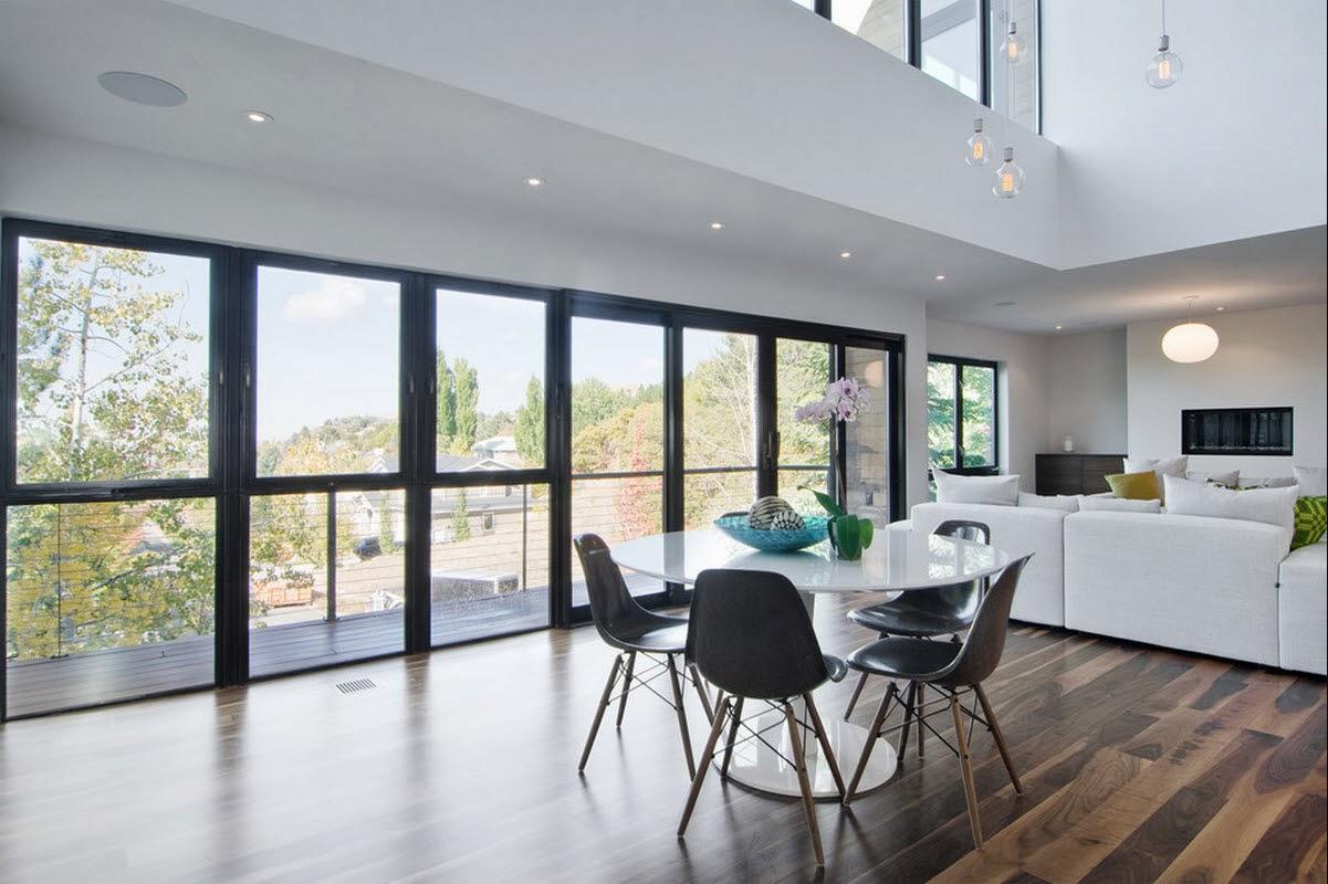 Ruang Makan Modern Dengan Dinding Kaca 4