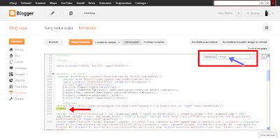 Cara Mencari Kode HTML Pada Edit Template Blogspot Tampilan Baru